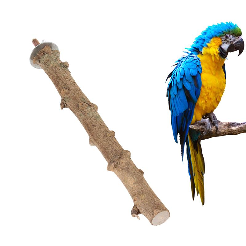 3PCS Parrot Bird Natural Logs Pepper Wood Standing Stick Perches Pet Bite Claw Grinding Portable Toy Toys