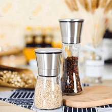 160ml Stainless steel pepper grinder pepper powder pepper coffee grinder creative manual glass grinder natural bamboo pepper mill manual pepper grinder pepper powder black pepper grinder environmentally friendly material