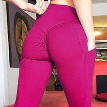 цены Solid Color Mobile Phone Pocket Elastic Force Yoga Hip Hip High Waist Hit Underpant Woman