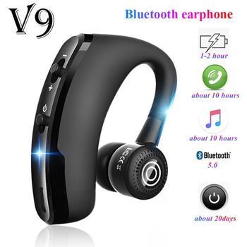 New V9 Earphones Wireless Bluetooth Headset Handsfree Business Headphones Drive Call Sports Earphone