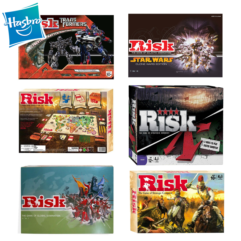 Hasbro Risk Game Six Strategic Conquer English Card Party Games Multiplayer Interactive Board Aliexpress