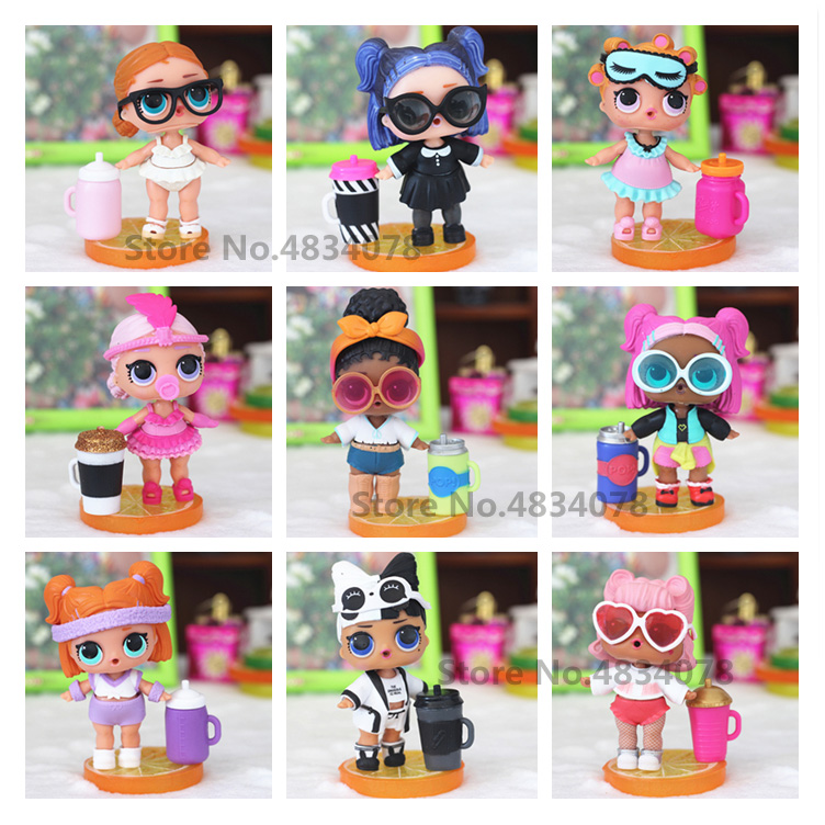 100% Originals Lovely LOLS Dolls DIY Kids L.O.L Toy MGA Doll With Clothes And Shoes Milk Bottle Girls Birthday Christmas Gifts