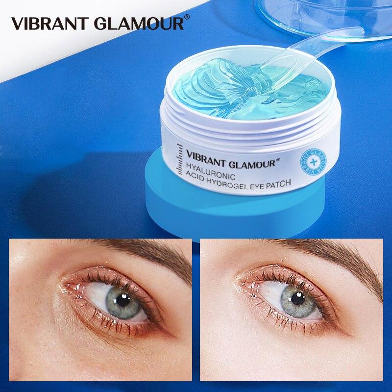 VIBRANT GLAMOUR Hyaluronic Acid Eye Mask Moisturizing Remove Puffiness Dark Circles Eye Wrinkle Firming Nourish Eye Care 60 pcs