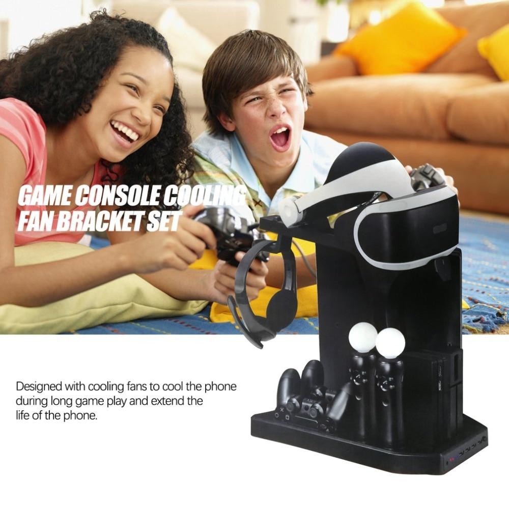 Вертикальная подставка для контроллера зарядного устройства KJH, геймпад, зарядная док-станция для PS Move, для PS4 Slim, для PSVR /PSVR2