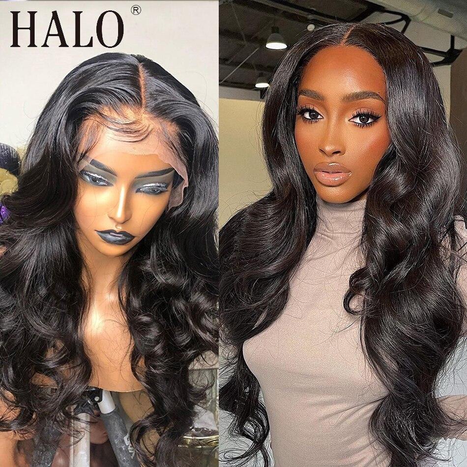 28 30 polegada frente do laço brasileiro perucas de cabelo humano onda do corpo 13x4 pré arrancadas glueless peruca frontal preto fechamento feminino remy peruca