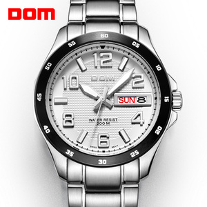 DOM Mens Watches Top Brand Lux