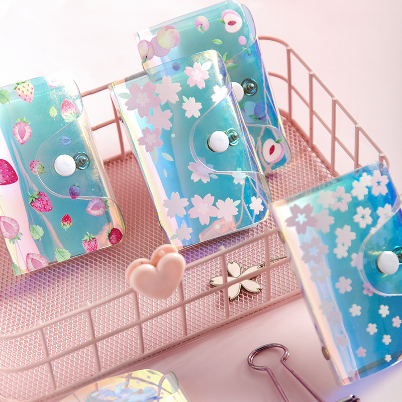 20 Slots PVC Flowers Pattern ID Credit Name Card Holder Business Card Stock Wallet Office Desk Visit Card Organizer Accessories