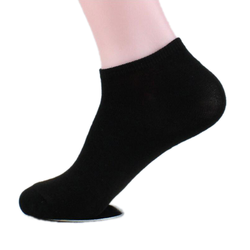 Classic Black White Gray Cotton Sock For Men Summer New Casual Elastic Ankle Man  Breathable Stretch Meias Male QMH