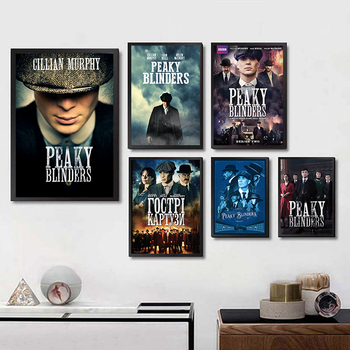 Otto Bathurst Gangster Posters Movie Wall Stickers Livingroom Decoration White Coated Paper Prints Home Decoration Painting image