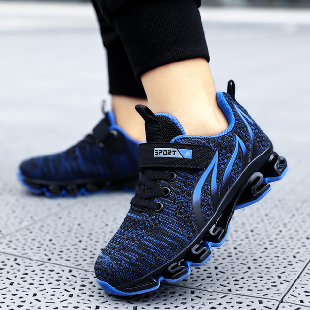 Big Children Running Shoes Boys Sneakers Spring Autumn Breathable Shoes Kids Sport Shoes Light Outdoor Hollow Sole Tenis Shoes