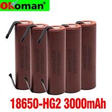 Original de alta capacidade hg2 18650 bateria 3000mah para hg2 alta descarga de energia alta tensão atual + diy nicke