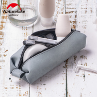 Naturehike Silica Gel Washing Bag Cosmetic Bag Cold Resistance Heat Resistance  20℃~220℃ Waterproof Fast Drying Multifunction|Climbing Bags|Sports & Entertainment -