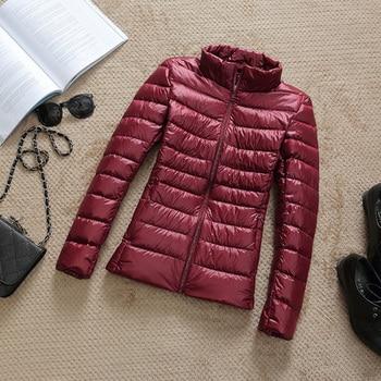 New Brand 90% White Duck Down Jacket Women Autumn Winter Warm Coat Lady Ultralight Duck Down Jacket Female Windproof Parka 14
