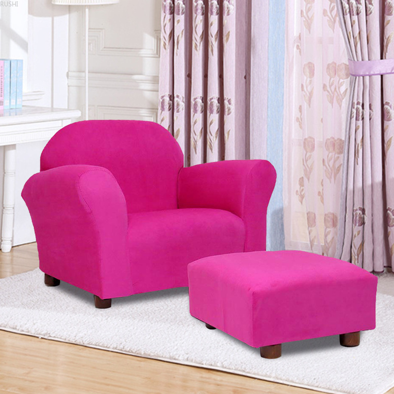 Factory Direct Sales Children's Cloth Sofa One Seat Kids Recliner Armchair With Footstool Kids Couch Chair Armchair For Kids