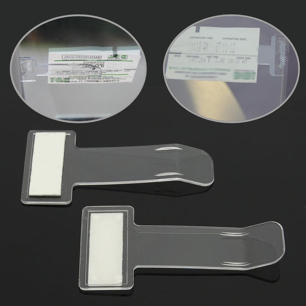Ticket Holder Parking Windscreen Clear Clip Vehicle Sticker Permit Pass Car Kit