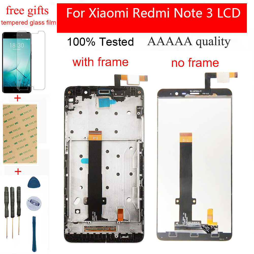 For Xiaomi Redmi Note 3 LCD Display Redmi Note 3 LCD Screen Touch Screen Digitizer Assembly Frame Replacement