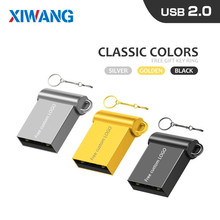 The New mini metal usb flash drive 128GB pen USB2.0 64GB pendrive 32GB key16GB 8GB cle free shipping Free custom LOGO
