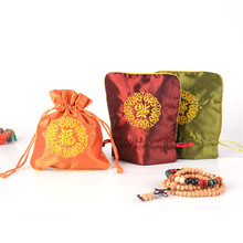 14x12.5cm Silk Bags Women Jewelry Charm Gifts Holder Bag Chinese Style Brocade Pouches Drawstring Pouch
