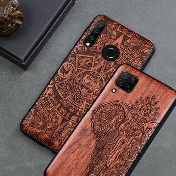 Wood Case For Huawei P40 P30 P20 Pro P30 Lite Real Wood+TPU Frame Case for Huawei Honor 9X 8X Honor 10 Honor 20 Pro V30 v20