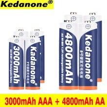 4 ~ 40 stuks AAA 3000 mAh + AA 4800 mAh 1.2 v Oplaadbare Ni-Mh Batterij Gratis verzending voor torch speelgoed Speelgoed Camera
