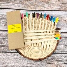 Paquet de 12 brosse à dents écologique bambou doux Fibre brosse à dents dents solide bambou poignée 100% biodégradable