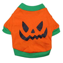 Pet Clothing Fashion Puppy Small Dog Cat Pumpkin Vest T Shirt Summer Cotton Clothes for All Sized Cats Little Dogs