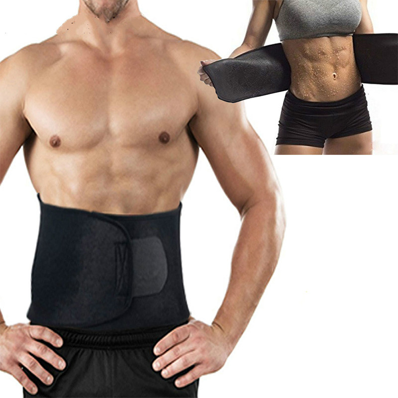 Premium Waist Trainer & Trimmer Sweat Belt For Men & Women Fitness Shapewear Wrap Tummy Stomach Weight Loss Fat Burner Slimming