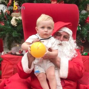 Image 2 - をpureborn新生児少年ロンパースセーラーホリデーベビー服夏通気性の綿ベビーロンパースクリスマス服