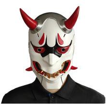 Маска для косплея из игры ow genji devil маска Хэллоуина унисекс