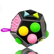 Mão para o autismo tdah ansiedade alívio foco crianças 12 lados dados anti-ansiedade stress-aliviar o estresse magia anti-stress brinquedos