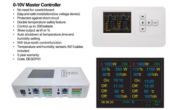 Horticultural Lighting 0-10V Dimming Controller Grow Light Dimmer for Greenhouse