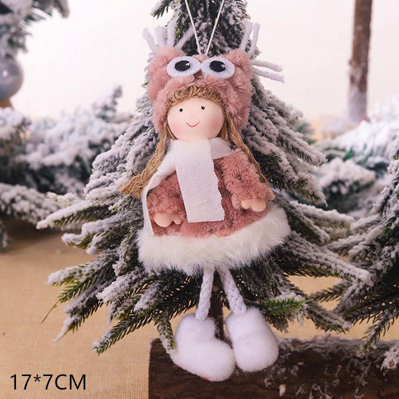 2020 New Year Gift Cute Christmas Angel Doll Xmas Tree Ornament Noel Deco Christmas Decoration for Home Natal Navidad 2019 Decor 17