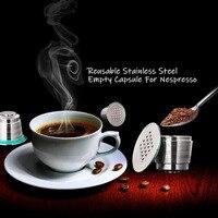 2020 NEUE Nachfüllbare Upgrade Platz Loch Nespresso Edelstahl Leere Kapseln Metall Reusable Kaffee Filter Cup Cafe Tropfer
