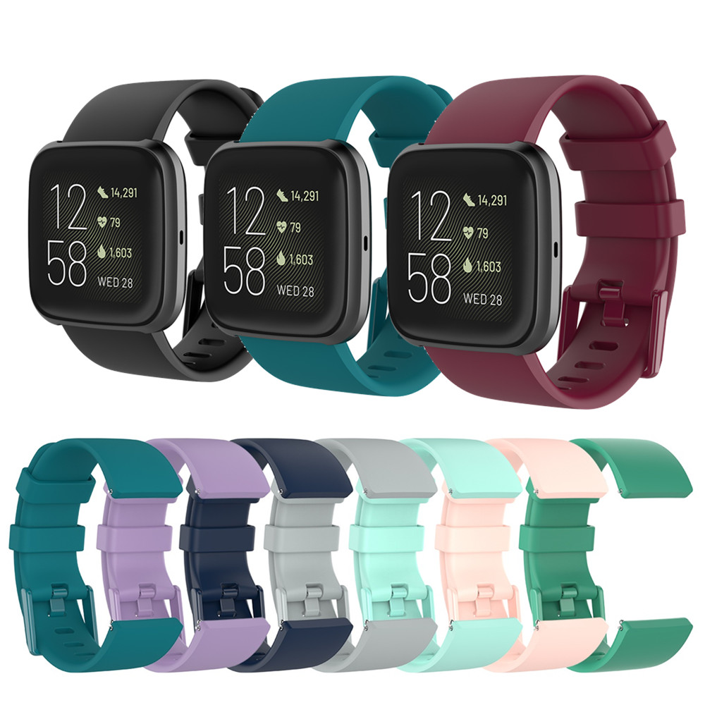 Smart Watch Band For Fitbit Versa2 23mm Silicone Wrist Strap For Fitbit Versa / Versa Lite / Versa 2 Bracelet Sport Accessories