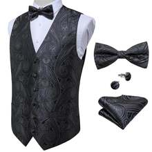 Мужской костюм жилет для вечерние ринки свадьбы Пейсли Шелковый