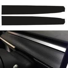 2 шт Автомобильная наклейка на приборную панель матовая углеродная