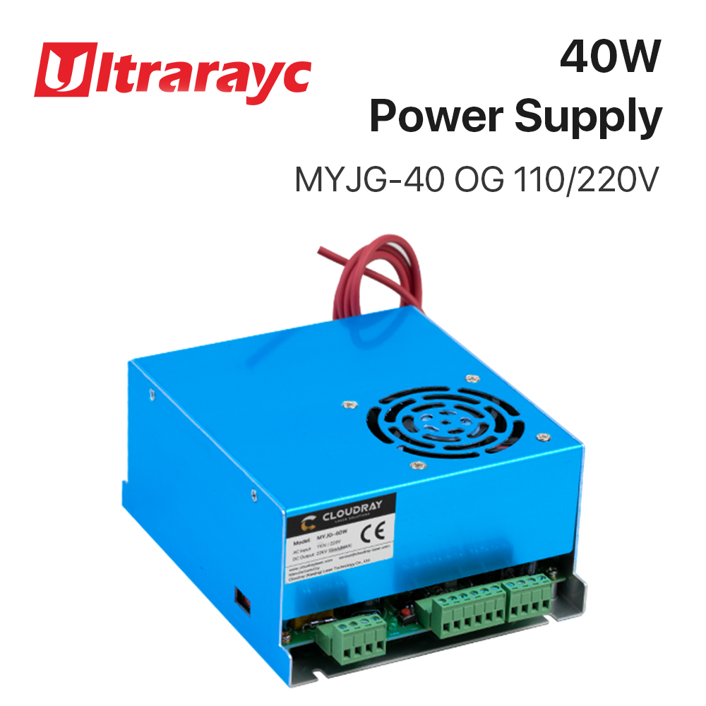Ultrarayc 40W CO2 Laser Power Supply MYJG 40WT 110V/220V For Laser Tube Engraving Cutting Machine Model A