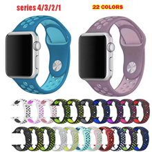 Series 1/2/3/4/5 Strap for Apple Watch Sport silicone Band 38mm 42mm 40mm 44mm bracelet For iwatch wristband цена и фото