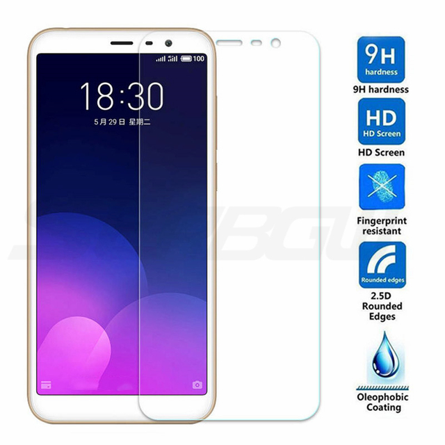 9H Protective Glass On The For Meizu C9 Pro M8 Lite M8C X8 M8 Note 8 9 V8 Pro 7 Plus Tempered Screen Protector Glass Film Case 2
