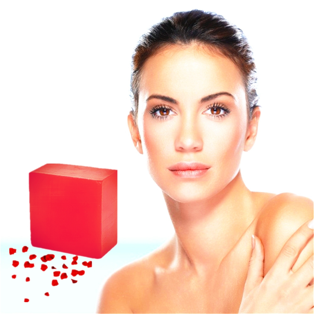 Scar Repair Reddish Skin Pigmentation Acne Treatment Face Neck Whitening Red Wine Rose Eliminate Skin Toxin Handmade Beauty Soap