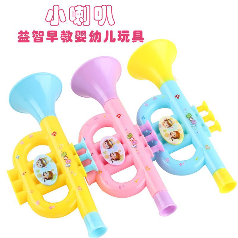 Plastic Trumpet Musical Instruments For Children Baby Kids Musical Toys Music Trumpet Hooter Baby Educational Toy Random Color