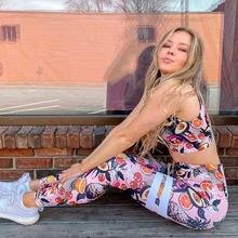 Женский спортивный костюм для йоги и фитнеса комплект из 2 предметов
