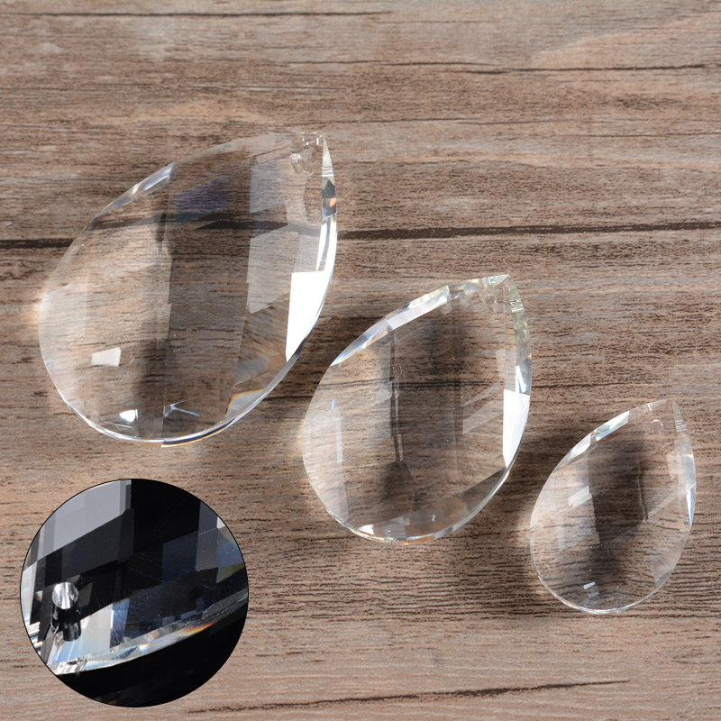 1pc New Clear Glass Crystals Lamp Prisms Parts Hanging Drops Pendants 63mm DIY Decor Accessories