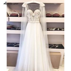 Wedding-Dresses Bridal-Gowns Boho Bohemian Vintage Plus-Size High-Quality Tulle Lace