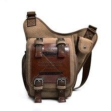 Brand Leather Decoration Vintage Men Over The Shoulder Bags