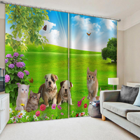 Customized 3D Blackout Curtains Living Room Bedroom Hotel Window curtains Photo green park curtains