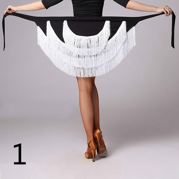Где купить Женская бальная Латинская Сальса Танго юбка для танцев с бахромой скейт обертывание шарф танцевальная одежда сексуальная разноцветная юбка 904-A360