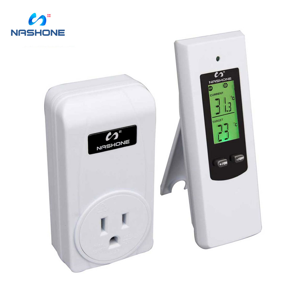 Wireless Temperature Controller,Electric Outlet Thermostat With Remote Control Built In Temp Sensor Prong Plug Heating Cooling