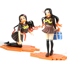 Demon Slayer Kamado Nezuko Action Figures Toys Kimetsu no Yaiba Anime Uniforms Kamado Nezuko PVC Figurine Toys Model kids gifts alen black widow 27cm 1pcs pvc figures play arts kai the avenger marvel action anime figures kids gifts toys