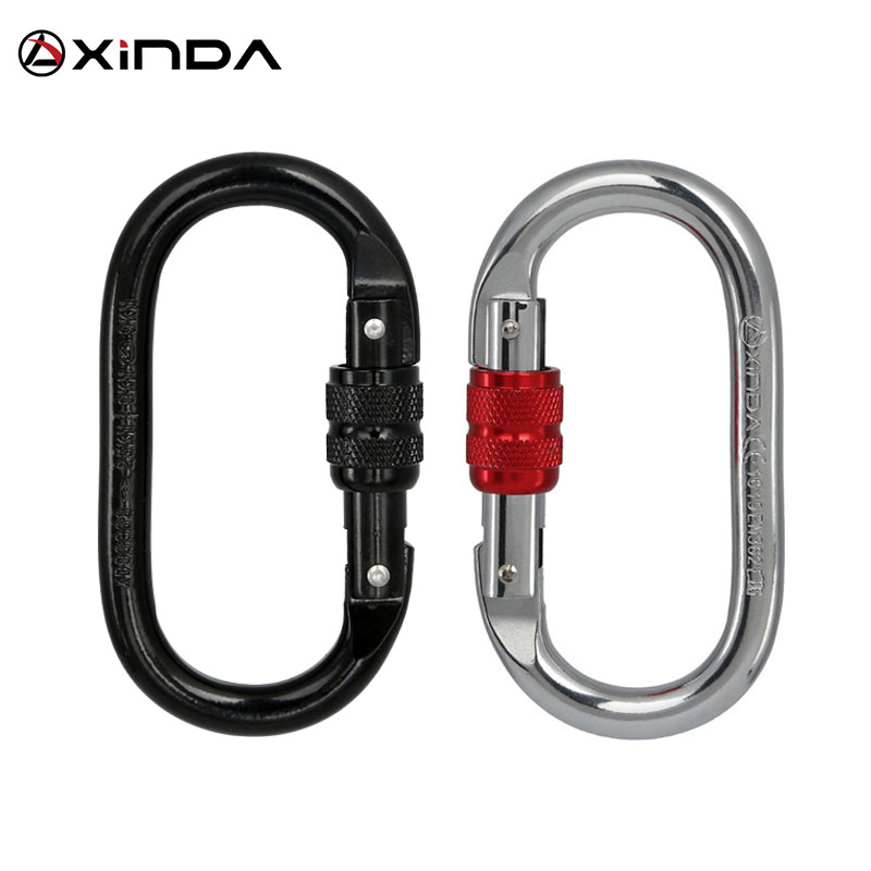 Professional Rock Climbing Carabiner 25KN Safety Pear-shape Safety Buckle Hiking Survival Kit Protective Equipment